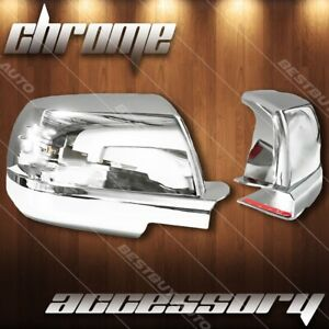 For 2007 2018 Toyota Tundra Chrome Full Side Mirror Cover Trim Stick On Overlay