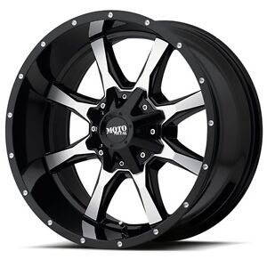 18 Inch Black Wheels Rims Dodge Ram 1500 Truck 5 Lug Moto Metal Mo970 Set Of 4