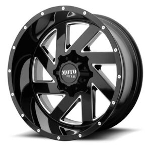 20 Inch Black Wheels Rims Chevy 5 Lug Truck Lifted Jeep Wrangler Jk Mo988 20x10