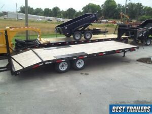 8 X 24 Deckover 7 Ton Hd Bobcat Equipment Trailer 24ft Flatbed Gooseneck 102x24
