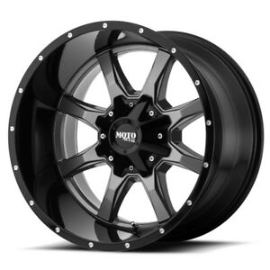18 Inch Black Grey Wheels Rims Moto Metal Mo970 6x5 5 6x135 Lug 18x10 24mm 4