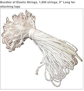 Bundle Of Elastic String 1000 Strings 9 Long For Attaching Tags