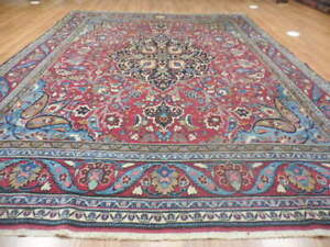 C1880 Vgdy Antique Persian Serapi Heriz Signed Bijar Bijdar 8x11 Estate Sale Rug