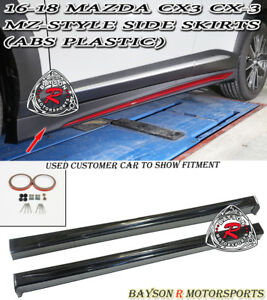 Mz Style Side Skirts Abs Fits 16 18 Mazda Cx 3 Cx3