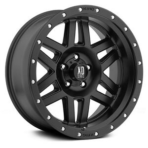 16 Inch Black Wheels Rims Jeep Wrangler Cherokee Ford Ranger 5x4 5 Lug Xd128 New