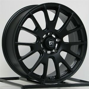 18 Inch Wheels Rims Black Honda Accord Civic Ford Edge Escape Flex Fusion 5 Lug