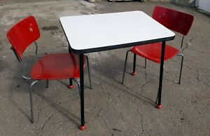 13 Tables 50 Stack Chairs Seating Dining Commercial Restaurant Deli Pizza Used