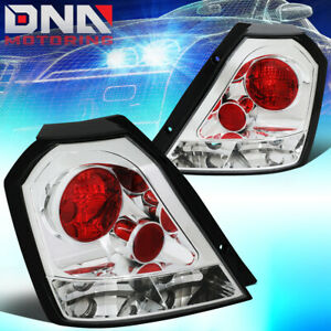 For 2004 2008 Chevy Aveo 5 Hatchback Chrome Housing Altezza Tail Brake Lights