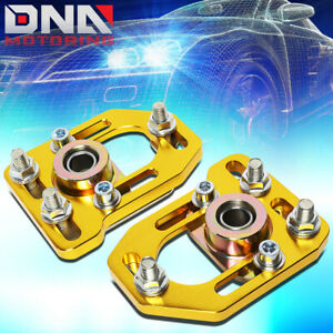 For 1979 1989 Ford Mustang Front Aluminum Adjustable Camber caster Plates Gold