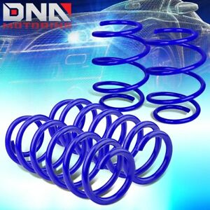 For 2016 2018 Honda Civic Blue 4pcs Front Rear Suspension Lowering Coil Spring