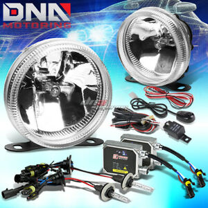 Clear Lens Universal Bumper Driving Fog Light Wiring Switch 3000k Hid Kit