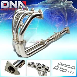 J2 Engineering For 92 96 Honda Prelude H22 Performance Exhaust Header Manifold