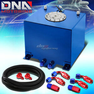5 Gallon 18 8l Blue Aluminum Fuel Cell Gas Tank level Sender nylon Oil Feed Kit