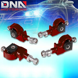 90 97 Accord 01 Integra 88 95 Civic Red Front Camber Suspension Adjuster Kit
