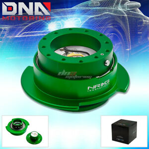 Nrg Gen 2 5 Racing Steering Wheel Quick Release Hub Kit Adapter Green Body Ring