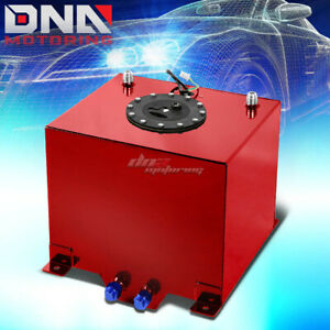 5 Gallon Lightweight Performance Red Coat Aluminum Fuel Cell Tank level Sender