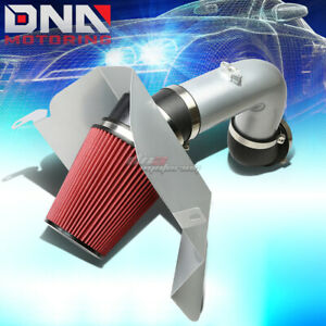 For 03 07 Dodge Ram Diesel Silver Polished Silver Cold Air Intake heat Shield