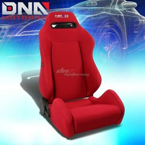 Nrg Type R Red Stitch Fully Reclinable Sports Deep Racing Seat Slider Rail Right