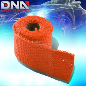 5ft 60 L 2 W Exhaust Manifold Header Downpipe Piping Orange Hi Temp Heat Wrap