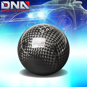 Nrg Anodized Ball Style Weighted 5 speed Gear Shifter Shift Knob Carbon Fiber