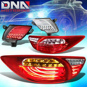 Red Clear 3d Led Tail Lights Chrome Rear Reflector Lamp Fit 13 16 Mazda Cx5