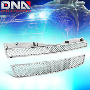 For 07 12 Tahoe Avalanche Suburban Chrome Diamond Mesh Front Grille Guard Frame