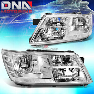 For 09 17 Dodge Journey Chrome Housing Clear Corner Headlight Oe Replacement