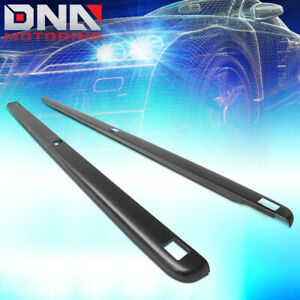 For 1994 2002 Dodge Ram 8ft Bed Satin Black Truck Rail Cover Cap Molding W holes