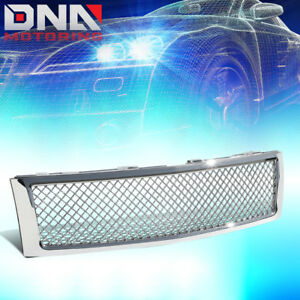 For 2007 2013 Chevy Silverado Chrome Abs Front Upper Diamond Mesh Grille Guard