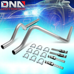 For 2000 2003 Dodge Dakota Stainless Catback Exhaust System Dual 2 5 Tail Pipes