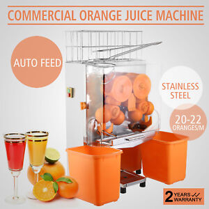 Commercial Electric Orange Squeezer Juicer 120w Fruit Maker Tea houses Stainless