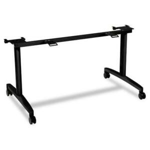 Hon Huddle Multipurpose Table Flip top Base 2 Legs 28 Height mflip24cp