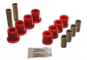 Energy Suspension Control Arm Bushings Front Upper Lower Polyurethane Red Fits