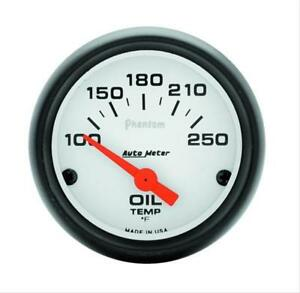 Autometer Phantom Electrical Oil Temperature Gauge 2 1 16 Dia White Face 5747