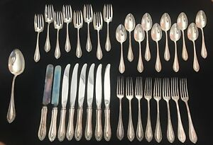 Watson Wallace King Philip Sterling Silver Service For 8 Flatware Set Made Usa