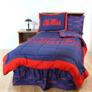 College Covers Misbbqu Mississippi Bed In A Bag Queen With Team Colored Sheets