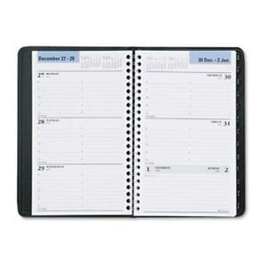 Dayminder G210 00 Recycled Weekly Appointment Book Black 4 88 In X 8 In 2013