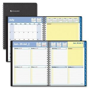At A Glance Aag761105 8 X 10 In Quicknotes 13 Monthly Weekly Planner Black