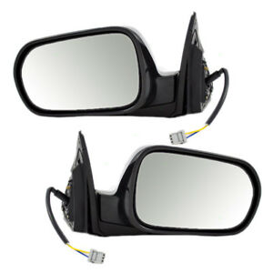 New Pair Set Power Side Mirror Glass Housing Assembly For 02 06 Acura Rsx