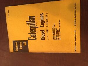 Cat Caterpillar Diesel Engine Servicemen s Reference Book Manual 6 Cyl 4 1 4