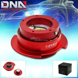 Nrg Gen 2 5 5 holes Steering Wheel Quick Release Hub Kit adapter Red Body ring
