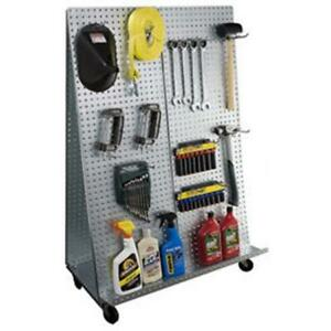Alligator Board 32 L A Frame Metal Pegboard Wow Tool Cart wheels 20 Gauge Steel