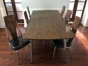Mid Century Chromcraft Dining Table And Chair Set