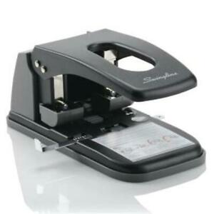Swingline 74190 Extra Heavy duty Two hole Punch 0 28 In Holes Black