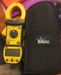 Ideal Clamp Meter 1000 Amp Electrical Tester Clamp 61 722 Digisnap 600v Used
