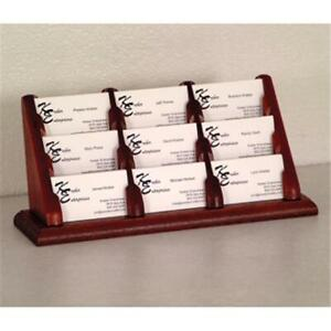 Wooden Mallet Bcc3 9mh 9 Pocket Countertop Business Card Holder In Mahogany