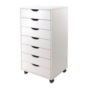 Winsome Trading 10792 Halifax Cabinet For Closet Office 7 Drawers White