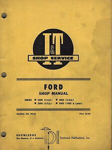 Ford 2000 3 cyl 3000 3 cyl 4000 3 cyl 5000 Tractor I t Shop Manual Fo 23