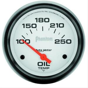 Autometer Phantom Electrical Oil Temperature Gauge 2 5 8 Dia White Face 5847