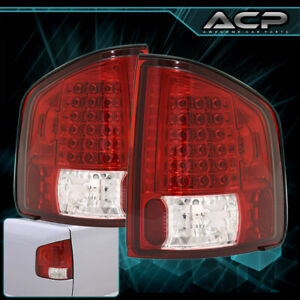 1994 2004 Chevy Sonoma S10 Red Lens Chrome Housing Led Rear Brake Tail Lights